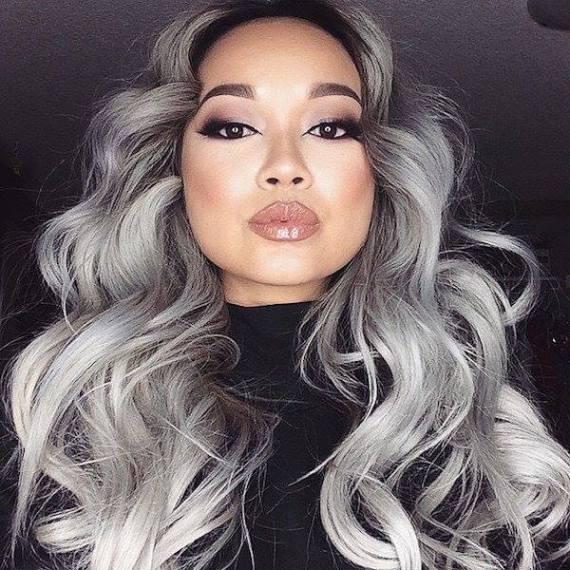 cabelos cinzas
