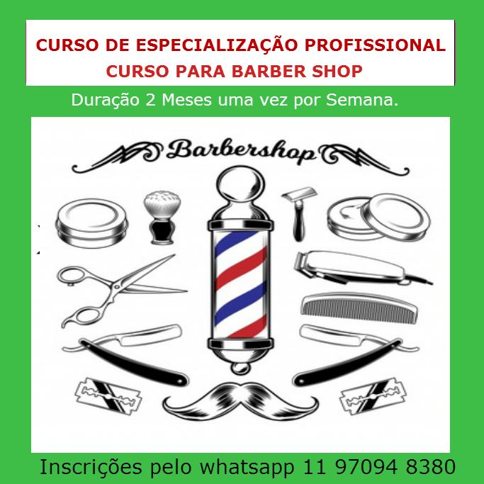 curso de especializao para barber shop