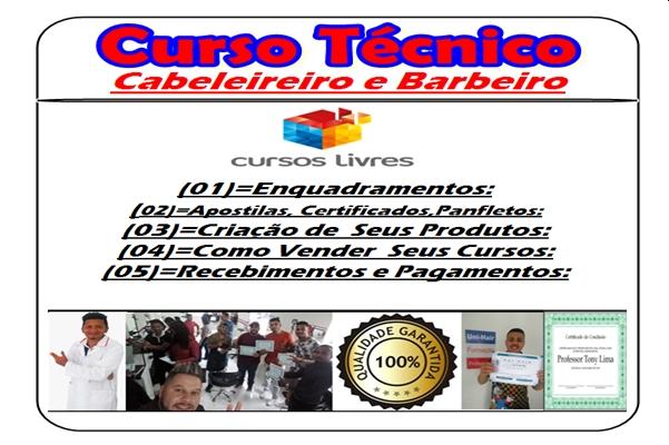 Curso Tecnico Cabeleireiros e Barbeiros