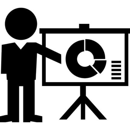 instrutor-dando-uma-palestra-com-o-grafico-circular-na-tela_318-58962